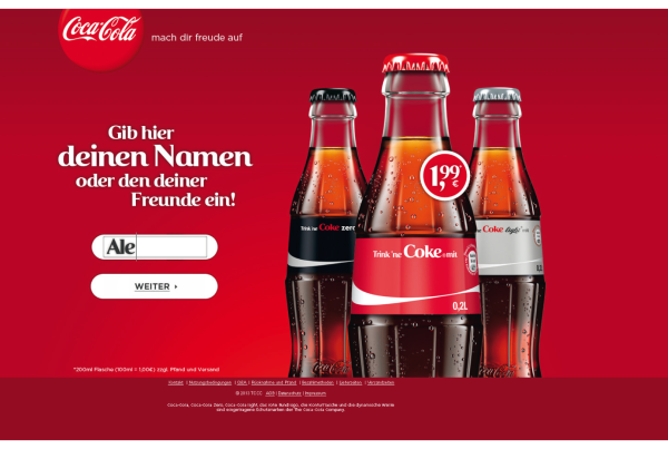 Share a Coke Screener